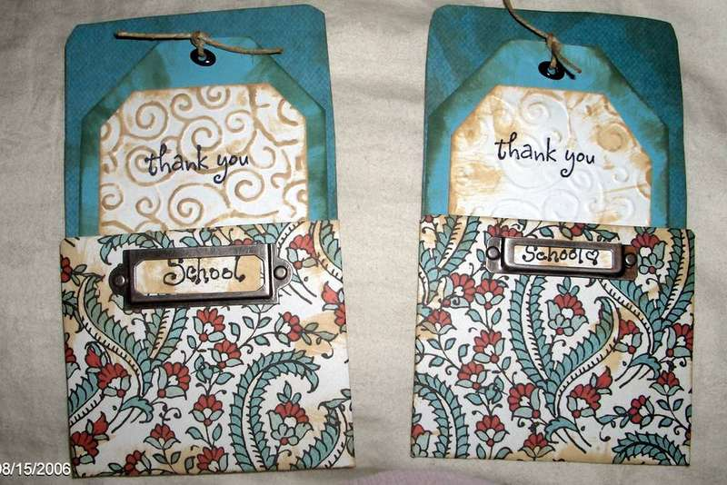 Pocket Thank you cards