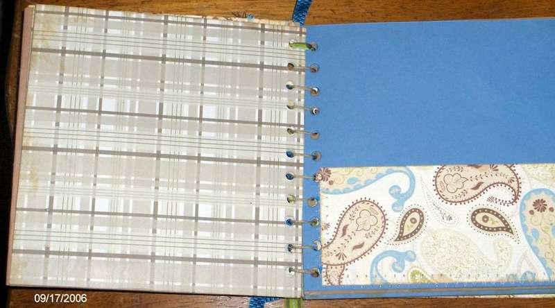 handmade scrapbook (inside)