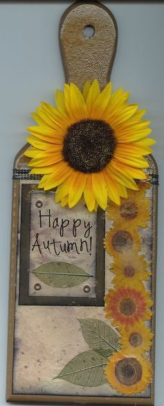 Happy Autumn! - Altered Cutting Board
