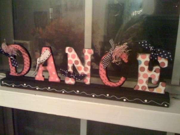 DANCE Wooden sign