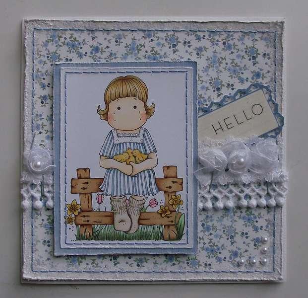 Hello Magnolia Card