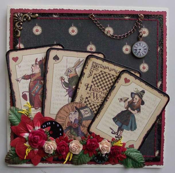 Hallowe'en in Wonderland card