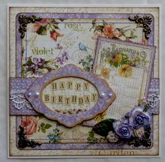 Happy Birthday *Graphic 45 Secret Garden*