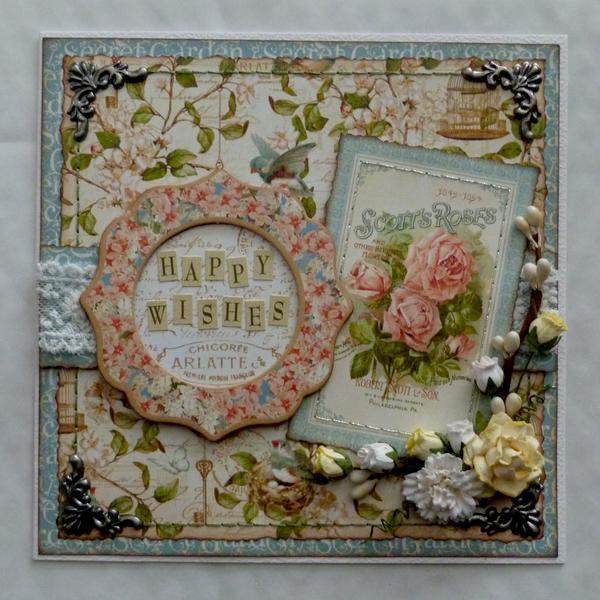 Happy Wishes Card *Graphic 45 Secret Garden*