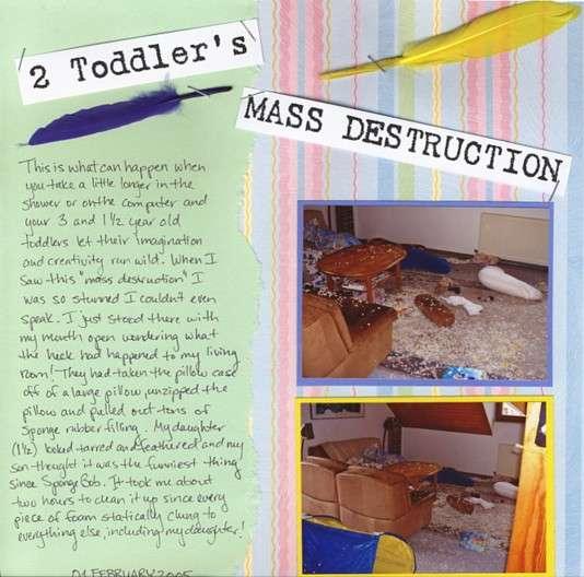 2 Toddler's Masse Destruction