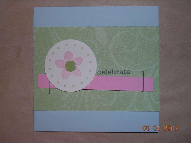 Celebrate mini card
