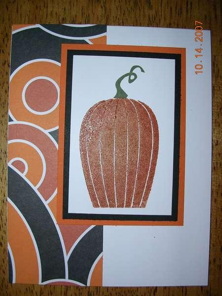 Scratch and Sniff Pumpkin Card