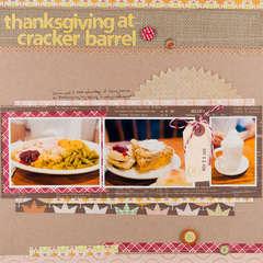 Thanksgiving at Cracker Barrel