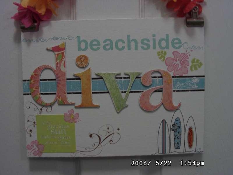 Beachside Diva Door Hang