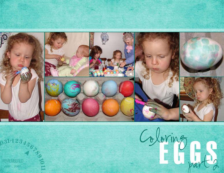 Coloring Eggs, part 2
