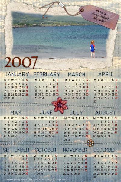 Card Calendar for Myles