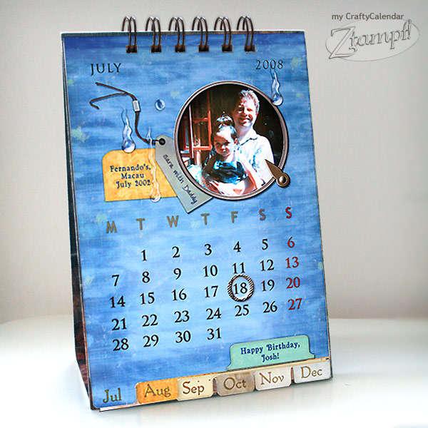 My Mini Crafty Calendar (Close Up)