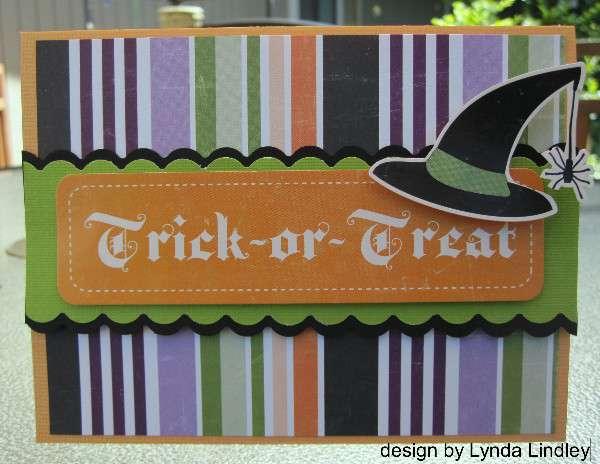 Trick or treat card by Lynda