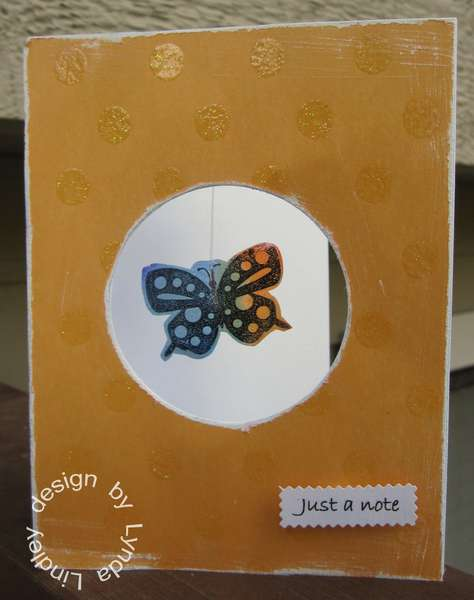 Just a note transparency butterfly card by Lynda