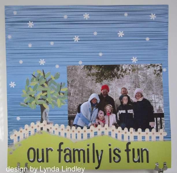 our family is fun by Lynda featuring Kiki Art