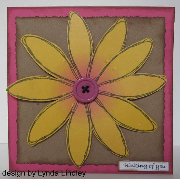 Thinking of you card by Lynda featuring Kiki Art