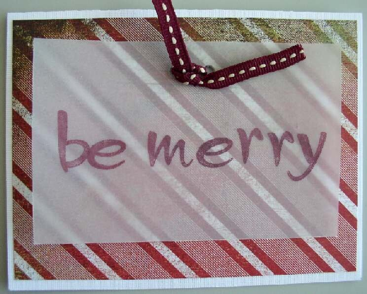 Technique Tuesday Be Merry card