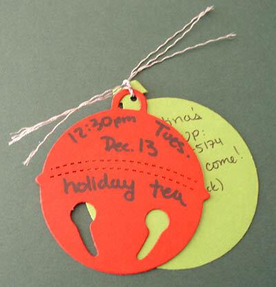 Holiday tea invitation