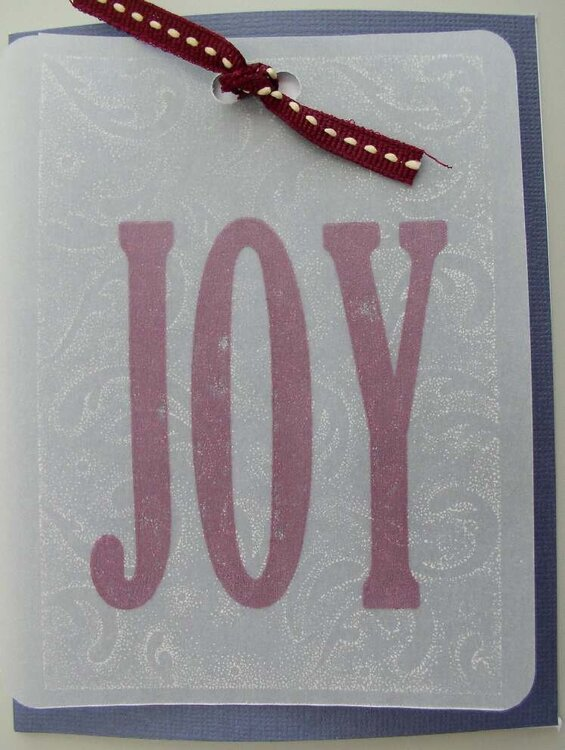 Technique Tuesday JOY card