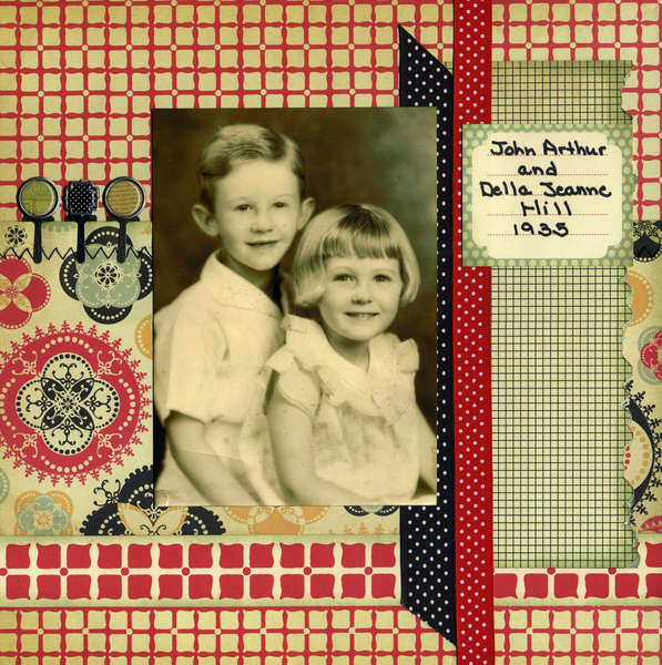 John and Della 1935 -- Old Page Maps Week #4