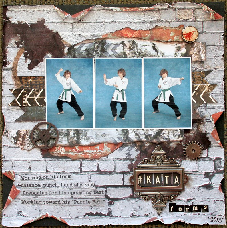 "Karate Album ""Kata"" Layout"