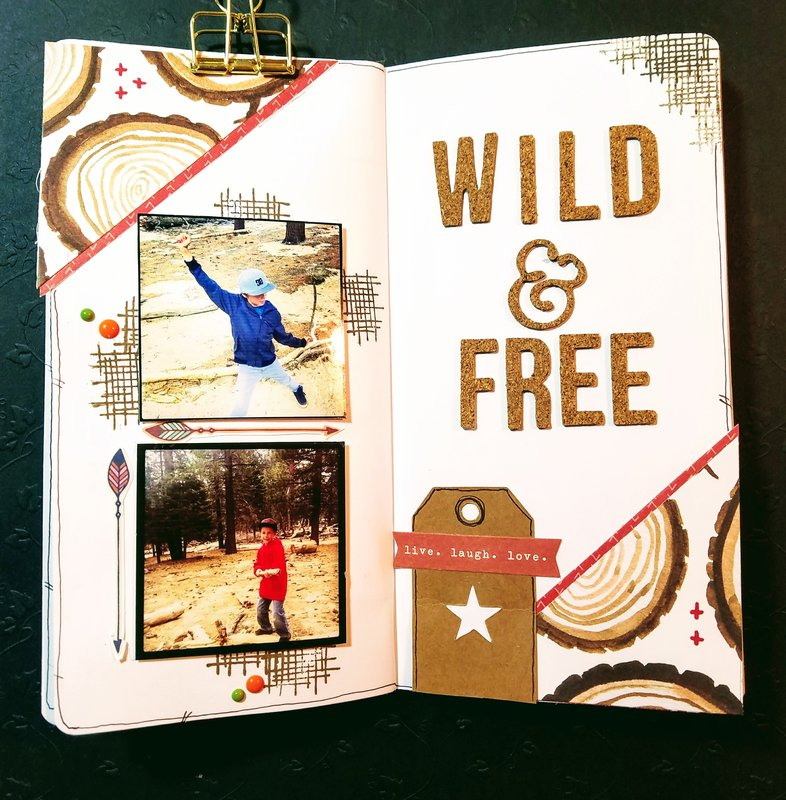 """Travelers Notebook """"Wild and Free"""""""