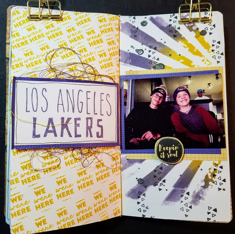 "Travelers Notebook ""LA Lakers"""