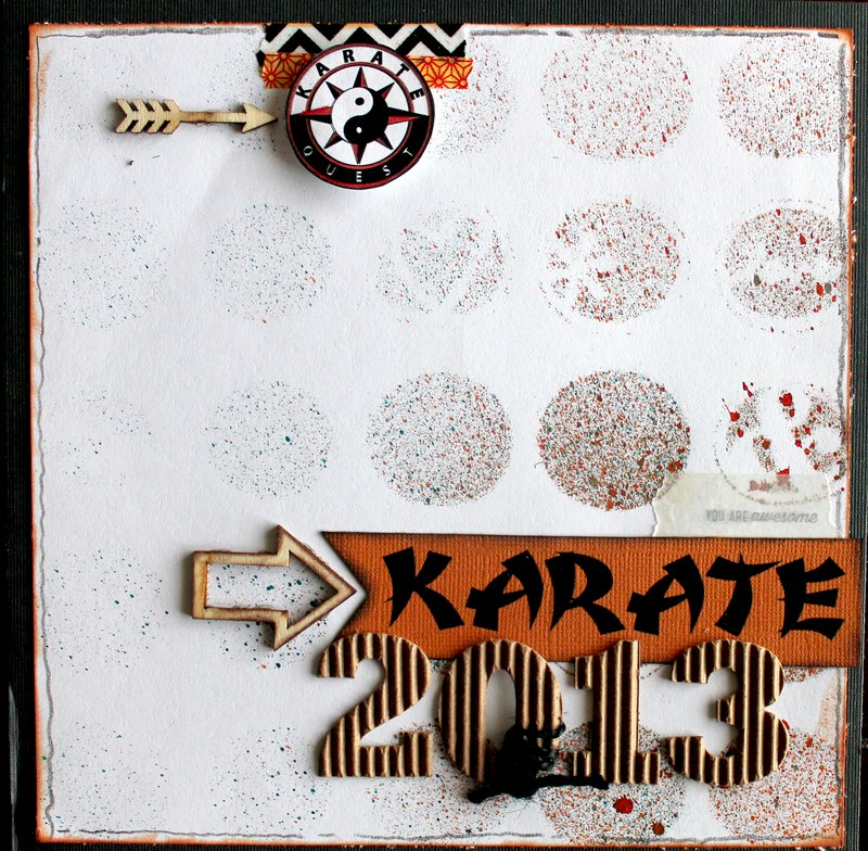 Karate Album~Title Page
