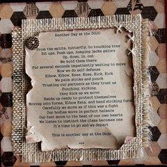 at the DOJO (a poem)