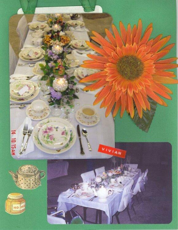 Spring Tea Vivian's Table