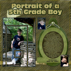 Portrait of a 5th Grade Boy