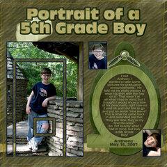 Portrait of a 5th Grade Boy