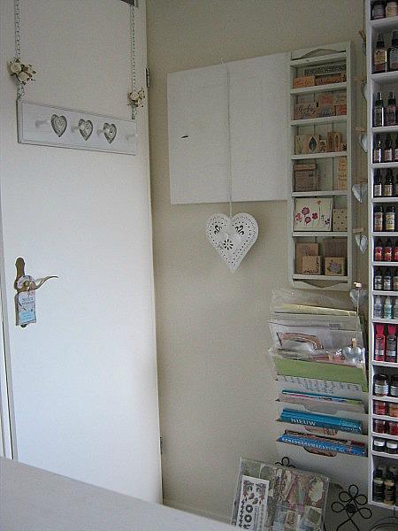 My scraproom* behind the door storage