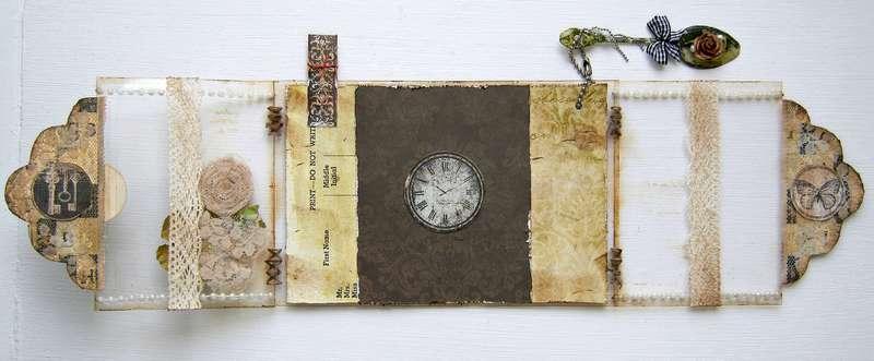 Time for tea acrylic card (inside)