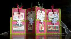 Accordion style Christmas card - open