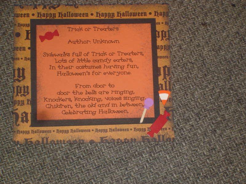 Halloween poem Disney Lisa's Fall stack swap