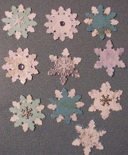 Snowflakes for die cut swap