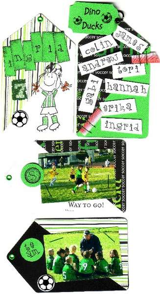 Soccer Tag Memory Book