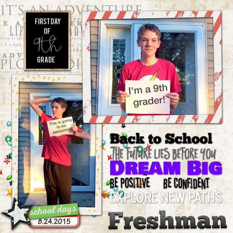 Freshman First Day 2015