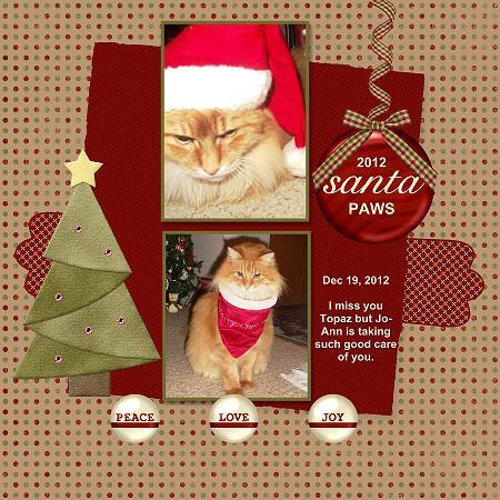 2012 Santa Paws - missing my Topaz