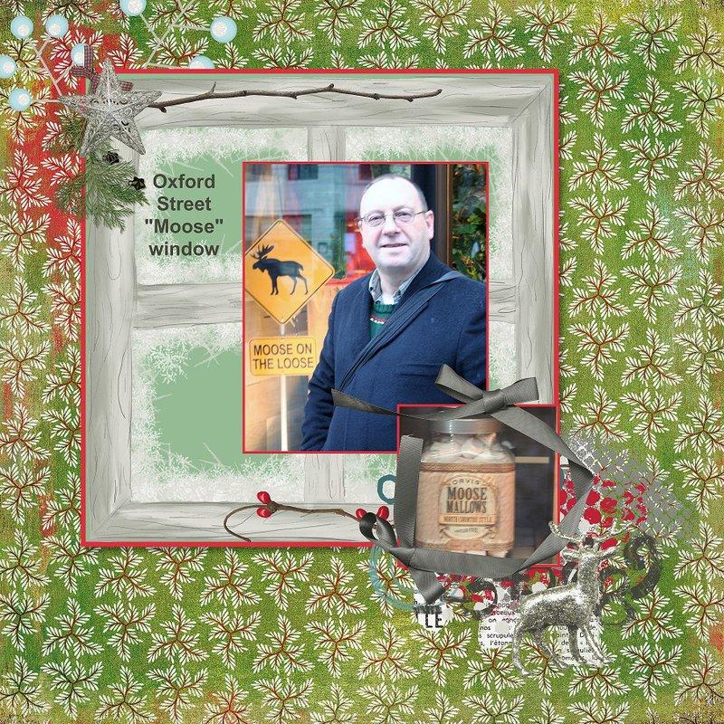 2014, London, Oxford Street Moose Window