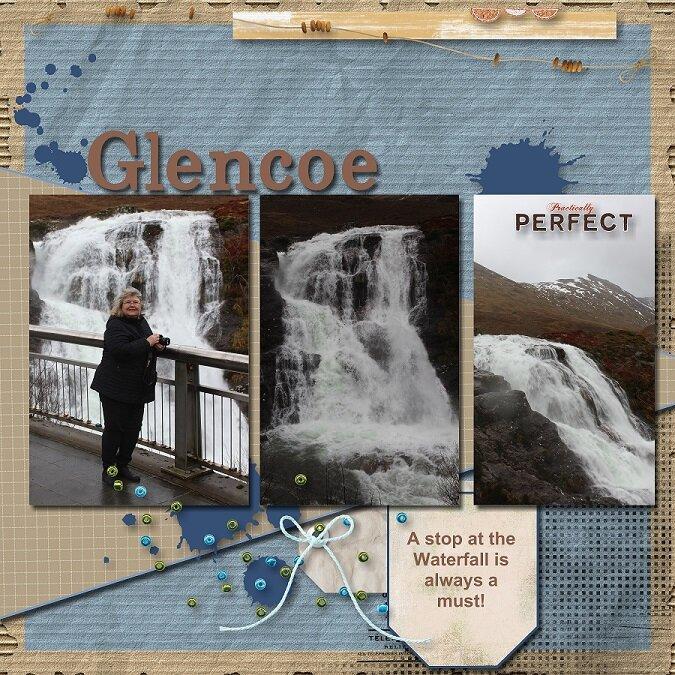 2020, Scotland - Birthday Road Trip - Glencoe Waterfalls