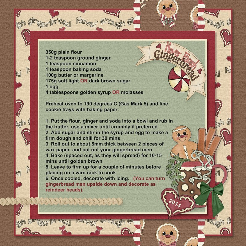 2014 Christmas Recipe - Never Enough Gingerbread