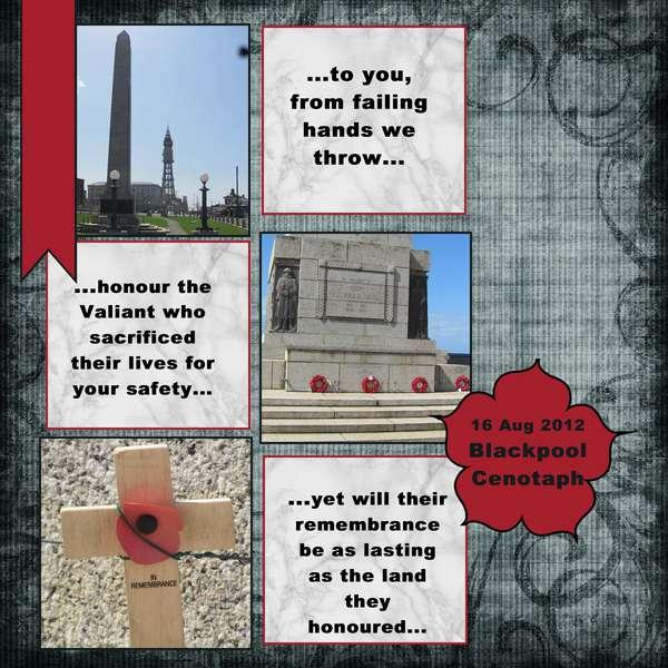 2012 Blackpool Cenotaph - Sept MSC #25