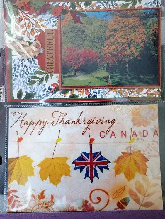 Thanksgiving 2020 pocket page layout