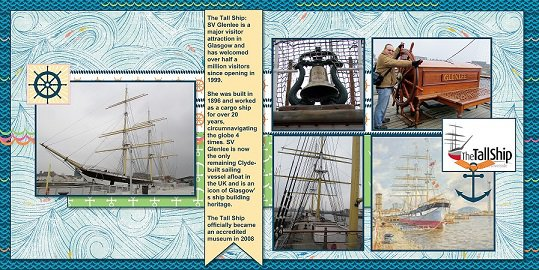 2014, Scotland - Tall Ship - October Page Maps Sketch 5