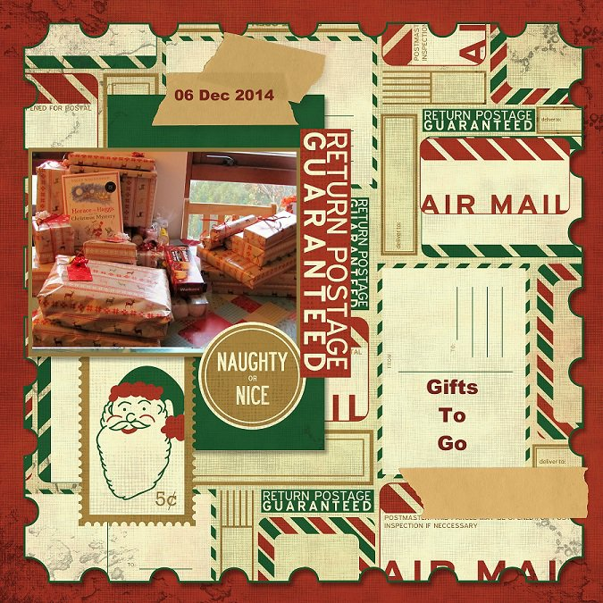 2014, Gifts To Go - December Page Maps sketch 1