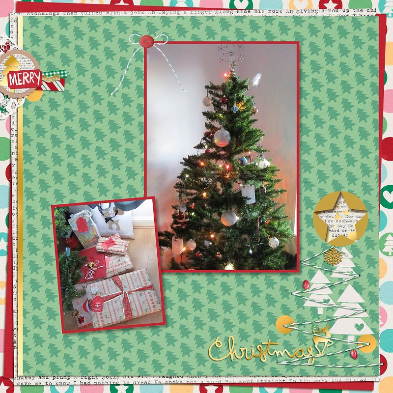 2014, Christmas Tree and wrapped gifts