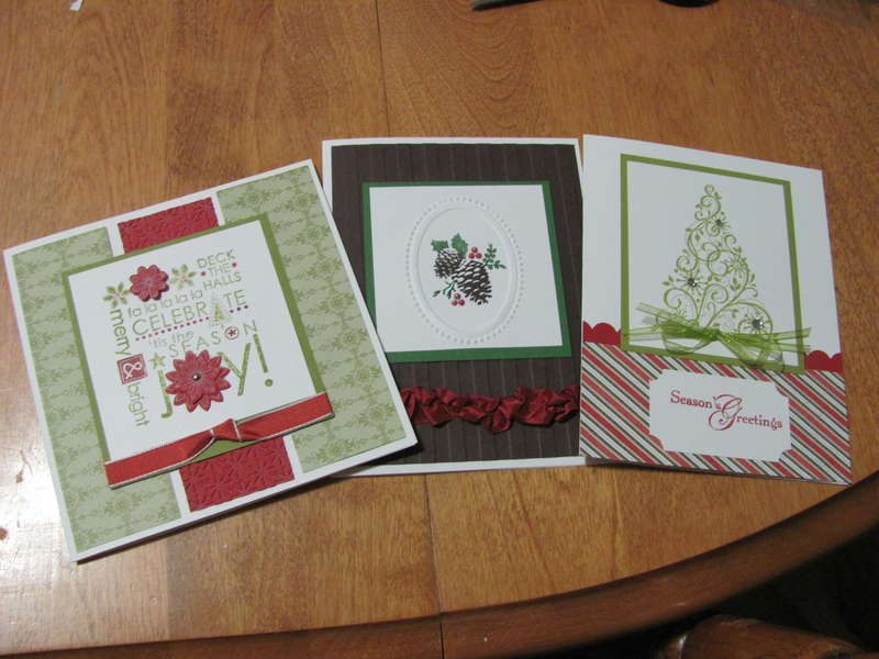 March - Christmas Card Club cards