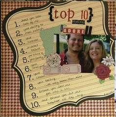 Top 10 reasons I adore U